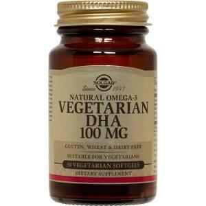 Solgar DHA Vegetarian 100mg 30 cápsulas moles