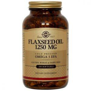 Solgar Flaxseed Oil 1250mg 100 cápsulas moles