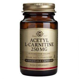 Solgar Acetyl L-Carnitine 250mg 30 cápsulas