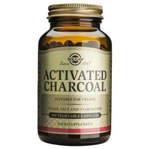 Solgar Activated Charcoal 100 cápsulas