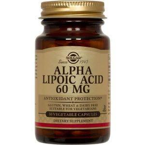 Solgar Alpha Lipoic Acid 60 -120mg 30 – 60 cápsulas