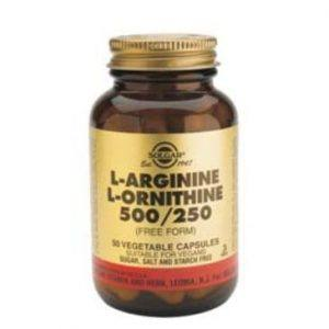 Solgar L-Arginine + L-Ornitine 50 cápsulas