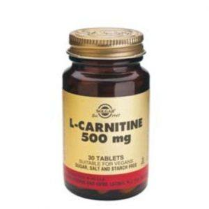 Solgar L-Carnitine 500mg 30 comprimidos