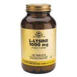 Solgar L-Lysine 1000mg 50-100 comprimidos