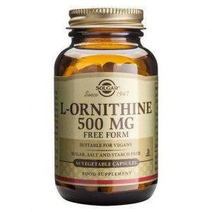 Solgar L-Ornithine 500mg 50 cápsulas
