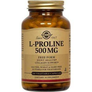 Solgar L-Proline 500mg 100 cápsulas