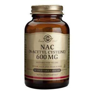 Solgar NAC (N-Acetyl, L. Cysteine) 60 cápsulas
