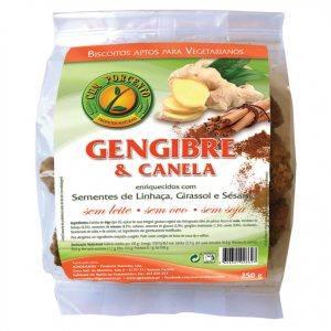 Biscoitos de Gengibre e Canela 250g