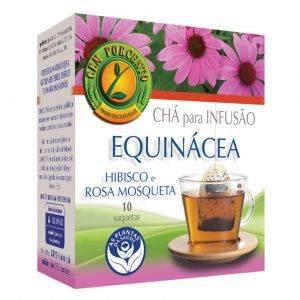 Chá de infusão de Equinácea, Hibisco e Rosa Mosqueta 10 saquetas