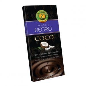 Cem Porcento Chocolate Negro com Coco 125g
