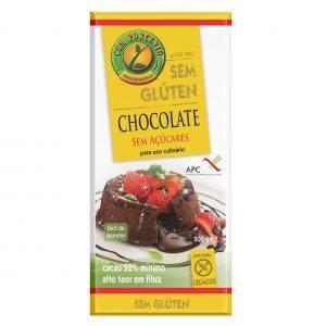 Cem Porcento Chocolate uso culinário sem glúten 200g