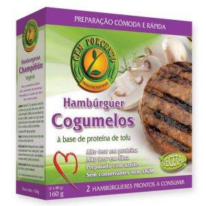 Cem Porcento Hambúrguer de Cogumelos 160g