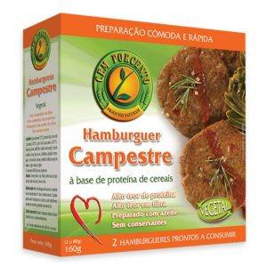 Cem Porcento Hambúrguer Campestre 160g