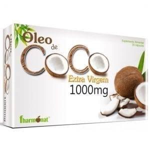 Óleo de Coco Extra Virgem Fharmonat 1000mg 30 cápsulas
