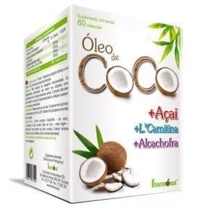 Óleo de Coco+Açai+L-carnitina+Alcachofra Fharmonat 60 cápsulas