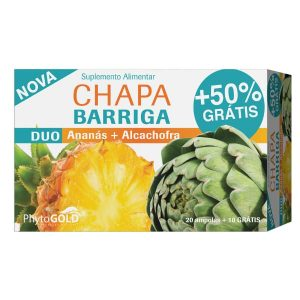Phytogold® Duo Chapa Barriga Alcachofra + Ananás 20 ampolas + 50% Grátis