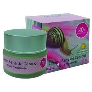 Real Natura Creme Baba de Caracol + Rosa Mosqueta 50ml