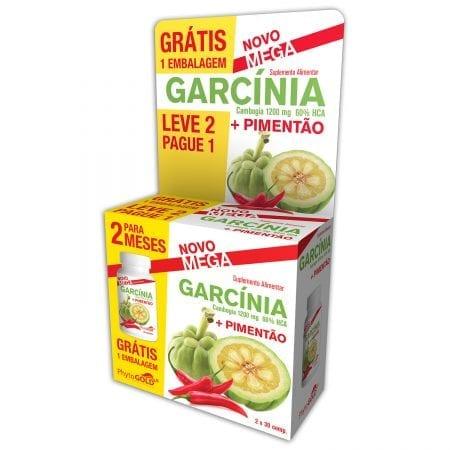 Mega Pack Garcínia + Pimentão (Leve 2 Pague 1) 2x30 comprimidos