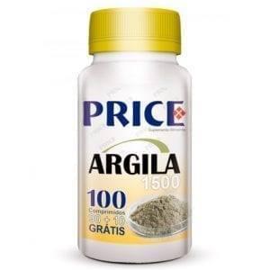 Price Argila 1500mg 90 comprimidos + 10 grátis