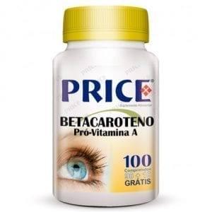 Price Betacaroteno Pró-Vitamina A 90 comprimidos + 10 grátis