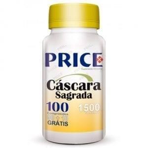 Price Cáscara Sagrada 1500mg 90 comprimidos + 10 grátis
