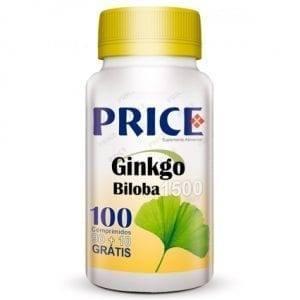 Price Ginkgo Biloba 1500mg 90 comprimidos + 10 grátis