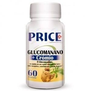 Price Glucomanano + Crómio 60 cápsulas