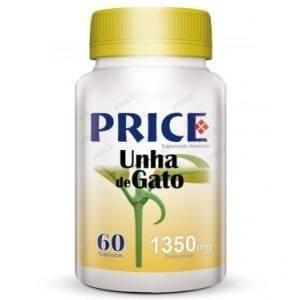 Price Unha de Gato 1350mg 60 cápsulas
