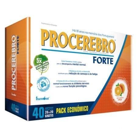 Procerebro Forte (Pack Económico) 20 ampolas + 20 grátis