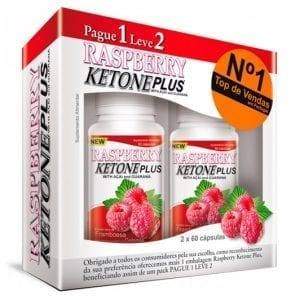 Raspberry Ketone Plus 2×60 cápsulas – Pague 1 Leve 2