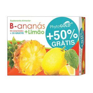 Phytogold®B-ananás + Limão 60 comprimidos + 30 grátis