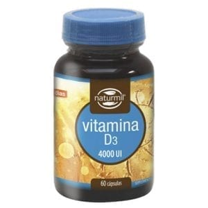Naturmil Vitamina D3 4000UI 60 cápsulas