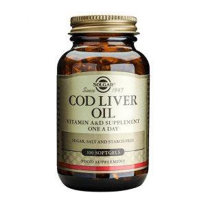 Solgar Cod Liver Oil 100 cápsulas moles