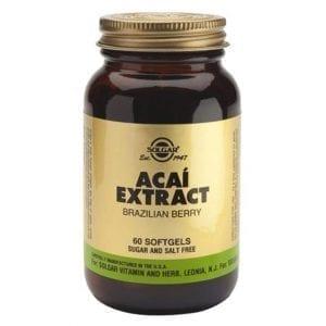 Solgar Açaí Extract 60 cápsulas moles