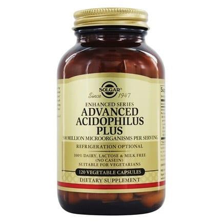 Solgar Advanced Acidophilus Plus 120 cápsulas vegetais
