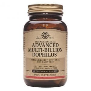 Solgar Advanced Multi-Billion Dophilus 60 cápsulas vegetais
