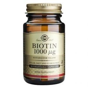 Solgar Biotin 1000µg 50 cápsulas vegetais