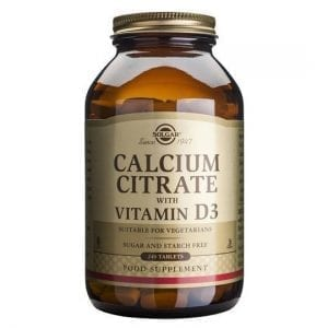 Solgar Calcium Citrate with Vitamin D3 240 comprimidos