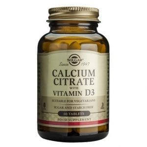 Solgar Calcium Citrate with Vitamin D3 60 comprimidos