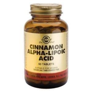 Solgar Cinnamon Alpha-Lipoic Acid 60 comprimidos