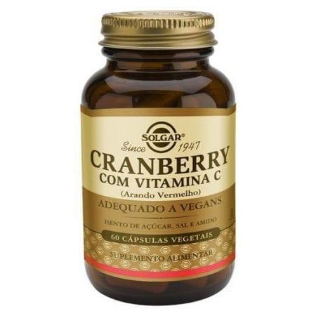 Solgar Cranberry com Vitamina C 60 cápsulas vegetais