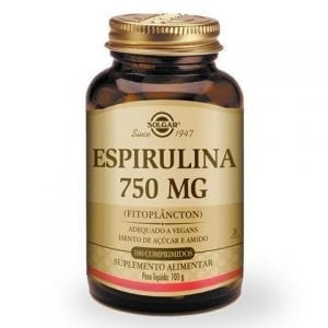 Solgar Espirulina 750mg 100 comprimidos