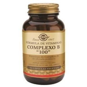 "Solgar Fórmula de Vitaminas Complexo B ""100"" 50 cápsulas vegetais"