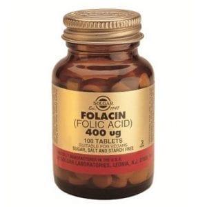 Solgar Folacin Ácido Fólico 400µg 100 comprimidos