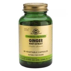 Solgar Ginger 60 cápsulas vegetais