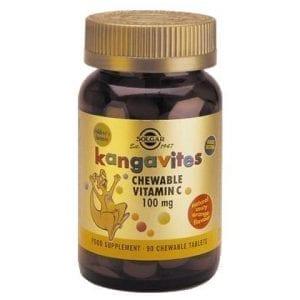 Solgar Kangavites Vitamina C 100 mg 90 comprimidos mastigáveis