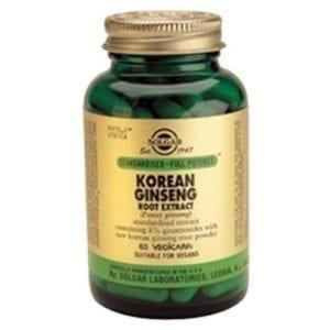 Solgar Korean Ginseng 60 cápsulas vegetais