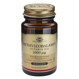 Solgar Vitamina B12 Metilcobalamina 1000µg 30 comprimidos