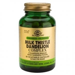Solgar Milk Thistle Dandelion Complex 50 cápsulas vegetais