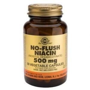 Solgar No-Flush Niacina 500mg 50 cápsulas vegetais